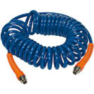 Complete with polyurethane spiral hoses with swivel ends