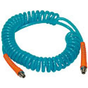 Complete spiral hoses from polyurethane version enhanced with rotating tips