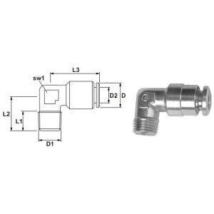 Plug Connector Angle 90