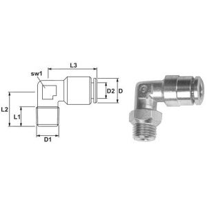 Plug Connector Angle adjustable 90