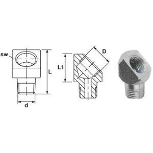Angle adapter 45