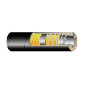 Suction and discharge hose for acids and bases