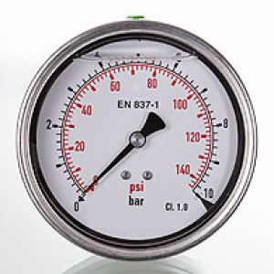 GMM 100 H Pressure gauge rear connection