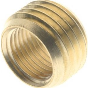 The adapter ring, thread cylindrical, nickel-plated brass