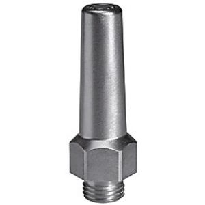 Safety nozzle round, reducing noise
