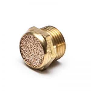 Silencer flat, sintered bronze / brass