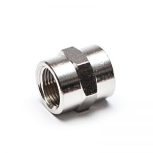 Socket, threaded cylindrical, nickel-plated brass