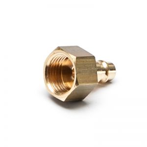 Screw connection, internal thread, brass