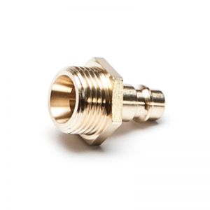 NW 7.2 connector with external thread, brass