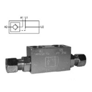 The check valve controlled by WG DIN 2353