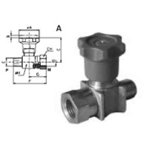 Shut-off valve for pressure gauge