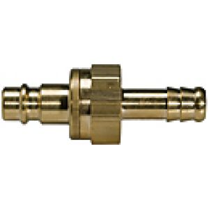 NW 7.2 connector with check valve, brass