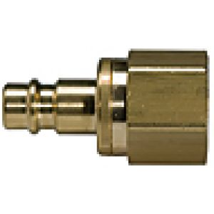 NW 7.2 connector with an internal valve, brass