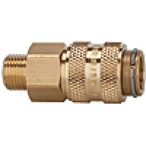 Quick NW 5 on both sides of valve, brass