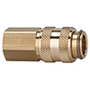 Quick NW 5 with internal thread on both sides valve, brass