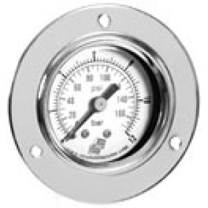 Natablicowy pressure gauge with dual scale, rear connection, accuracy class 2.5