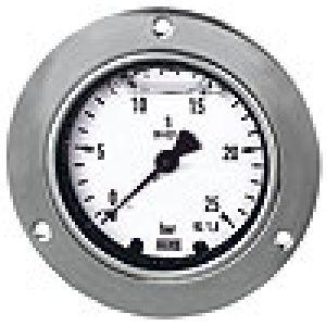 Natablicowy glycerine pressure gauge, chrome plated, polished