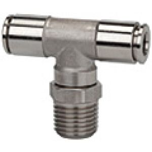 Tee rotating conical outer thread