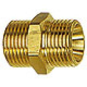 Nipple, thread cylindrical brass