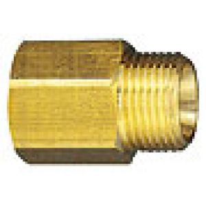 Reduction nipple, thread cylindrical brass